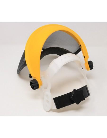 Protector de cara con rejilla metálica.