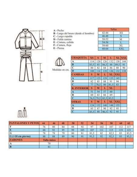 Elige tu talla de pantalon BASEPRO